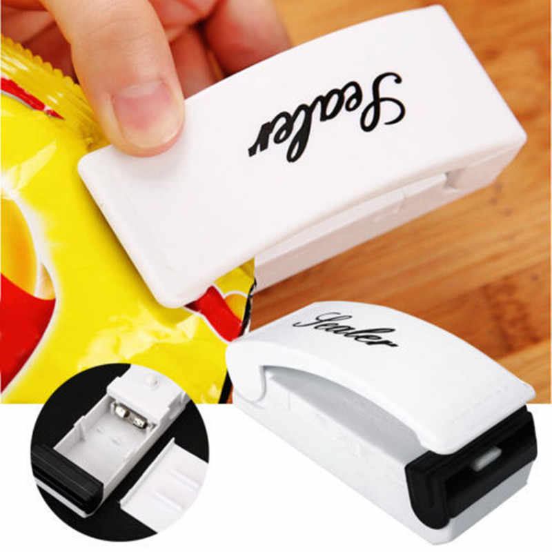 Portable Bag Clips Handheld Mini Electric Heat Sealing Machine Impulse Sealer Seal Packing Plastic Bag Kitchen Tool Home Use