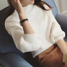 New Winter Women Sweaters Fashion Turtleneck Batwing Sleeve Pullovers Loose Knitted Female Jumper Tops