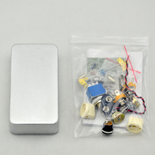 NEW  Fuzz  Face pedal kit  for guitar  effects pedal  with 1590B  silver case  free shipping