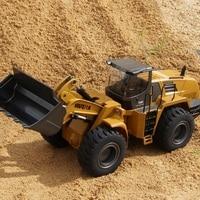 Huina 583 большой размер RC весы погрузчика 1:14 RC грузовик хобби бульдозер Автопогрузчик из сплава пульт дистанционного управления игрушки для м
