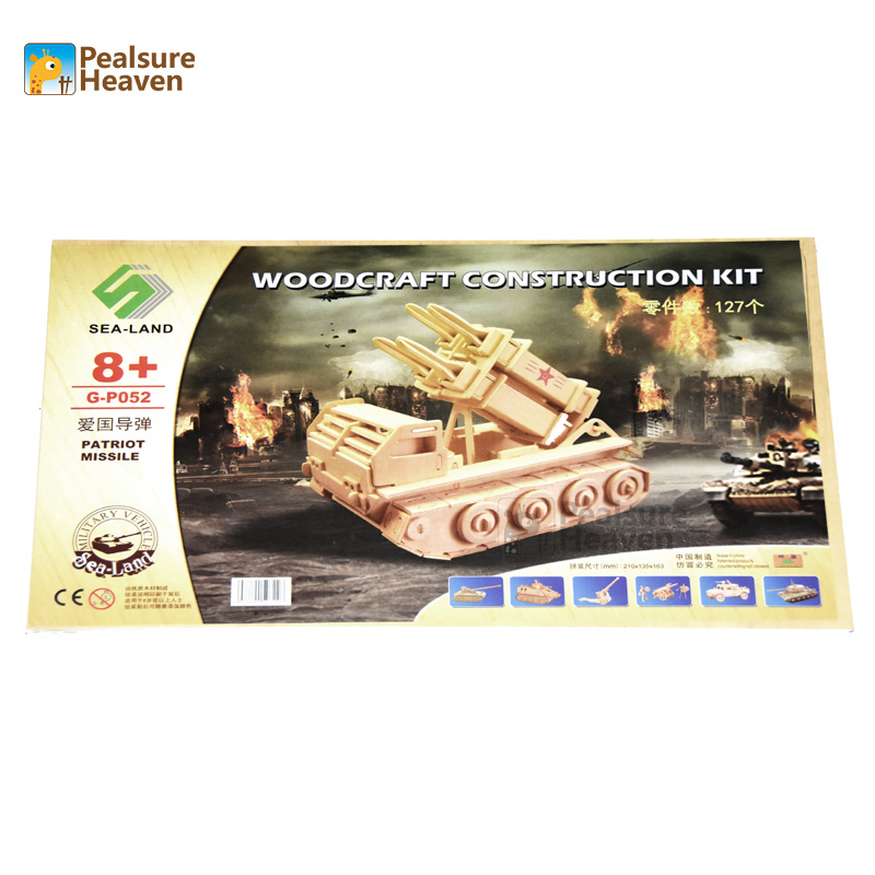 3D Puzzle Patriot Missile Educational Toys Wooden  Building Scale Model of Miniature DIY for children gift (3)