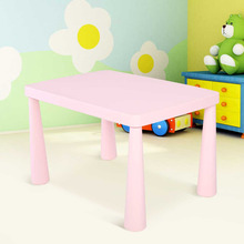 Kids Table Children Portable Plastic Activity Dining Table Learn Table Home Furniture Decorate Study Desk Gift(China)