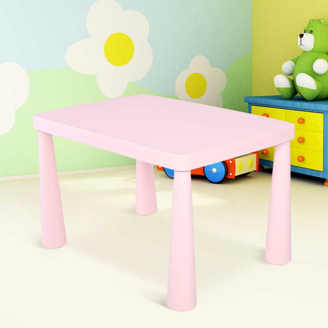Kids Table Children Portable Plastic Activity Dining Learn Home Furniture Decorate Study Desk Gift