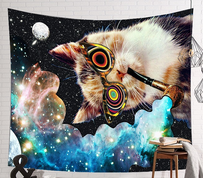 Image 4 - CAMMITEVER Space Starry Sky Starlight Tapestry Wall Hanging Multifunctional Tapestry Boho Printed Bedspread Cover Yoga Mat-in Tapestry from Home & Garden