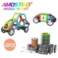 46PCS Magnetic Building Blocks Children Toys Bricks Construction Magnetic Designer Toys Model Build Kits Toys