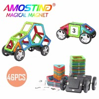 46PCS Magnetic Building Blocks Children Toys Bricks Construction Magnetic Designer Toys Model Build Kits Toys