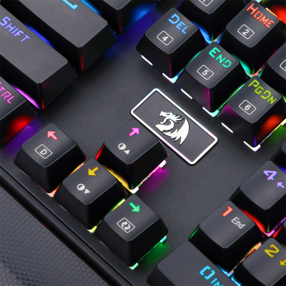 a45d68fcfc8 Redragon K567 RAHU RGB Backlit LED Blue Switches 104 Keys Mechanical Gaming  Keyboard with Detachable Wrist Rest-in Keyboards from Computer & Office on  ...