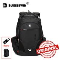 Swiss Backpack Mochila Style Black Laptop Backpack Male 38L Waterproof Travel Backpack Multi Pocket Quality Bagpack