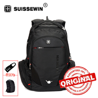 Swiss Backpack Mochila Style Black Laptop Backpack Male 38L Waterproof Travel Backpack Multi-Pocket Quality Bagpack sn8118