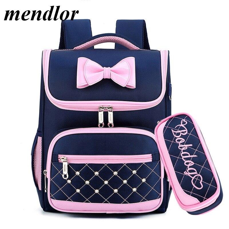 Cute Bow Princess Backpack  School Backpacks For Girls Kids Satchel School Bags For Kindergarten Mochila Escolar Rucksacks