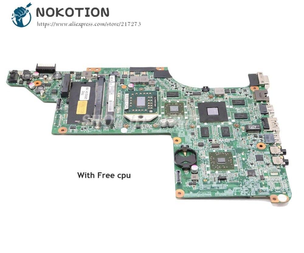 NOKOTION For HP DV6 DV6-3000 Series Laptop Motherboard 603939-001 DA0LX8MB6D1 MAIN BOARD HD5650 1GB Free Cpu