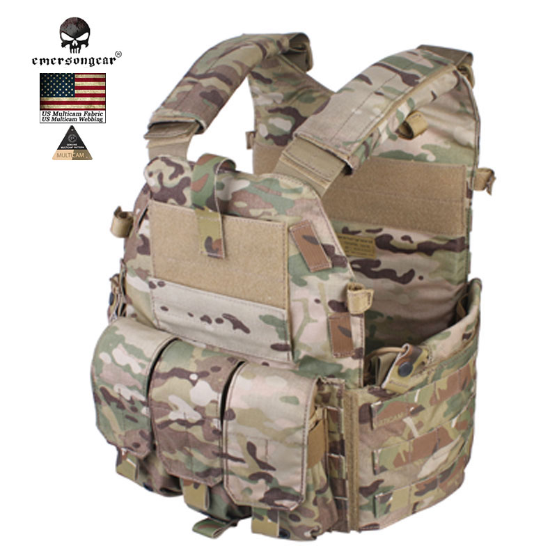 Emersongear 094K  Molle Tactical Vest M4 Pouch Tactical Armour  Chest Rig Combat USA  Muliticam  Security Hunting Airsoft Gears