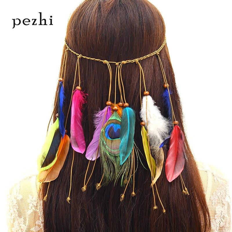 European And American Bohemian Peacock Feather Hair Band Ladies Fashion National Wind Head Hair Accessories