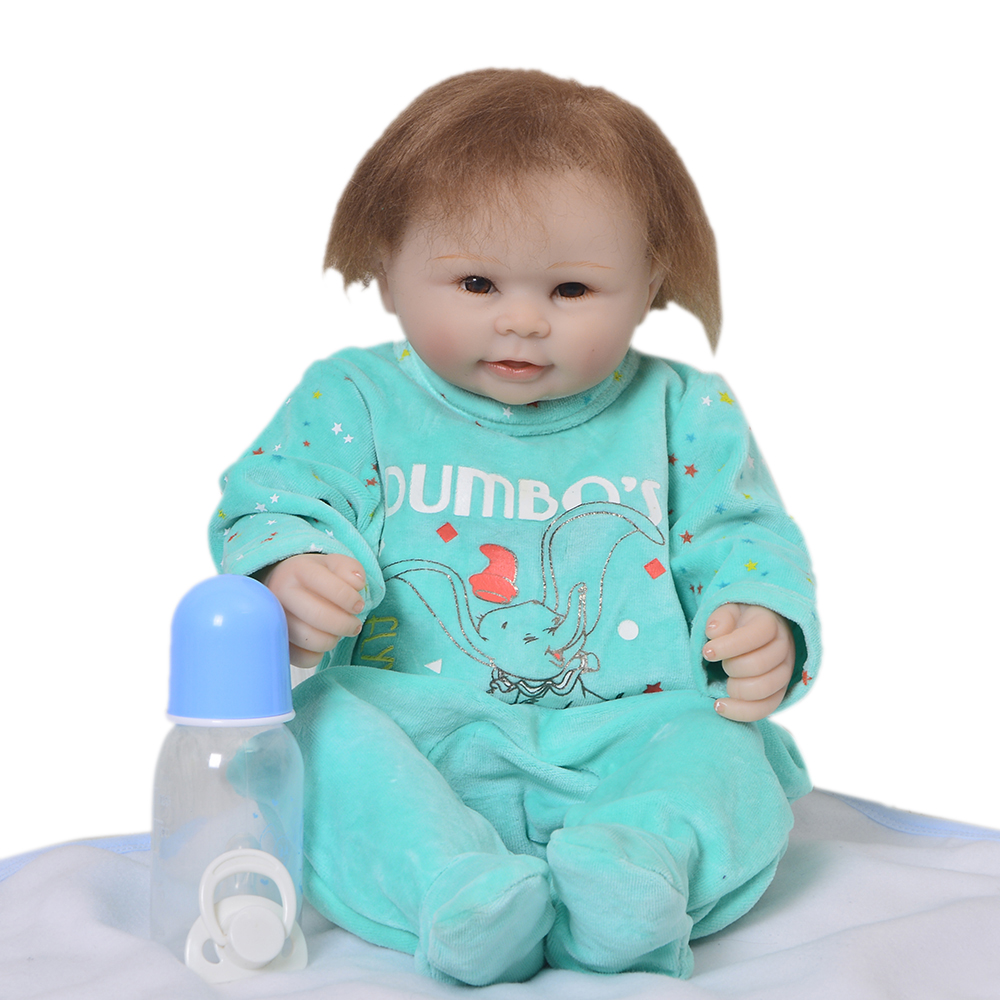 New Style 20 Inch Lifelike Reborn Doll Boy Full Silicone Body Real Touch Baby Born Doll For Kids Christmas Gifts Playmate Toys christmas gifts in europe and america early education full body silicone doll reborn babies brinquedo lifelike rb16 11h10