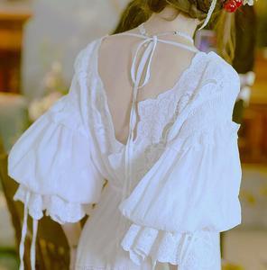 Image 3 - Hoge Kwaliteit Jurk Elegante Nachtkleding Nachthemd Vrouwen Nachtjapon Zwangere vrouwen Nachtkleding Jurken Bride Dress Hoge Kwaliteit