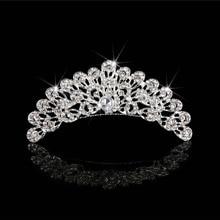 Tiaras And Crowns Floral Wedding Hair Accessories Crystal Bridal Hair Comb Pins Wedding Hair Jewelry Queen Diadem Princess Crown
