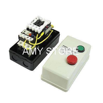 On Off Switch Enclosed Three Phase Motor Magnetic Starter 380V Coil 5.5-8.5A chint electromagnetism starter magnetic force starter qc36 10t motor starter phase protect magnetic force switch