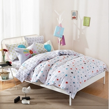 MEILUO Spring And Summer Rural Floral Starry Sky Cartoon Cotton Covered Four-Piece Suit