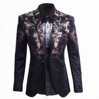 Made in China high quality plaid coat jacket blazer for men Autumn Winter Fashion New Style Long Sleeve Slim Fit Blazers for Men
