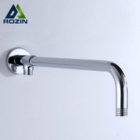 Free Shipping Wholesale And Retail Modern Polished Chrome Brass Wall Mounted G1 2 Shower Head Fixed