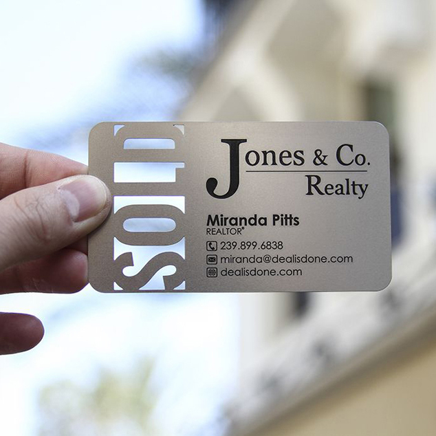Personalized Large Area Printing Quality Stainless Steel Business Metal Card