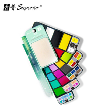Superior 18/25Color Solid Water Color Paint Set With Brush Portable Bright Watercolor Pigment for Artist Art Supplie