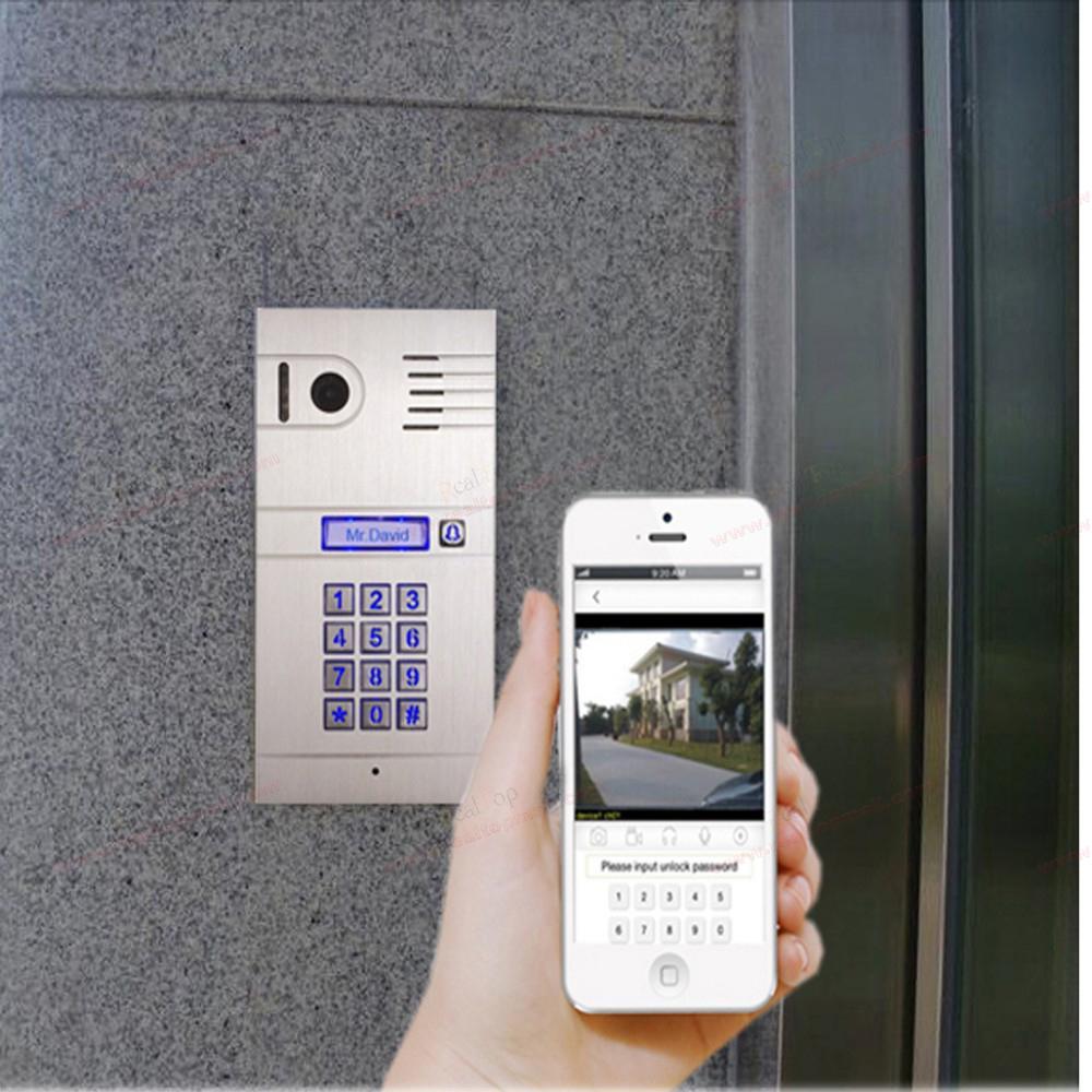 IP Video Door Phone Remotely Unlock Door By Smartphone/tablets,wireless  Intercom System,3G/4G Wireless WiFi IP Intercom System In Doorbells From  Home ...