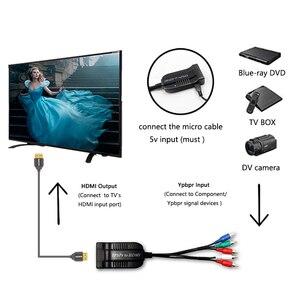 Image 4 - Thành Phần Sang HDMI, 5RCA Thành Phần RGB YPbPr Sang HDMI Hỗ Trợ 1080P Âm Thanh Video Adapter Dành Cho DVD