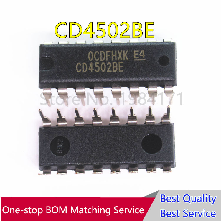 2 PCS CD4502BE CD4502  DIP-16 IC original TI NEW