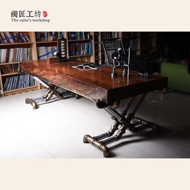 Tienda Online American retro industrial madera viejo mesas de hierro ...