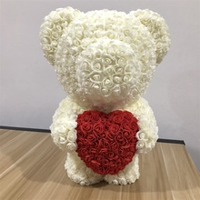 60cm Rose Bear Wedding Party Decoration Valentines Day Gift Cute Cartoon Super Girlfriend Kid Love Dolls Present