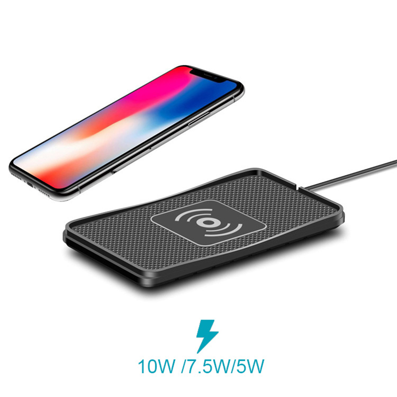 Car Charger Qi Wireless Charger Wireless Charging Pad for iPhone X 8 plus Samsung S6 S7 S8 S9 Note 8 9 10W Fast Qi Phone Charger
