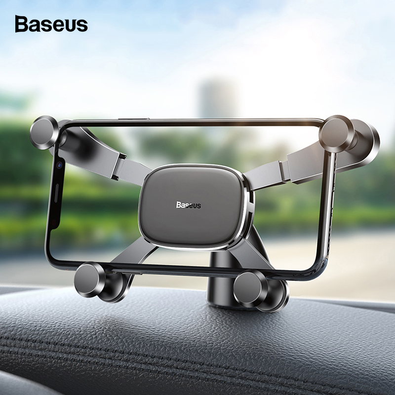 Baseus Dashboard Car Phone Holder For IPhone Xs Max Samsung Huawei Xiaomi Gravity Car Holder For Phone In Car Mount Holder Stand