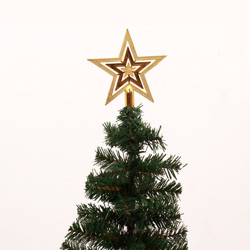 Christmas tree ornaments gold star decorations christmas for Star decorations for home