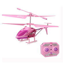 6Pcs/set 3.5CH RC Helicopter Aolly Mini RC Drone With Gyro Crash Resistant Flash RC Dron Toys For Boy Kids Girls Gifts Pink