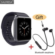 SALFRESA GT08 Smart Watch Men With Touch Screen Big Battery Support Camera TF SIM Card For IOS iPhone Android Phone Bluetooth