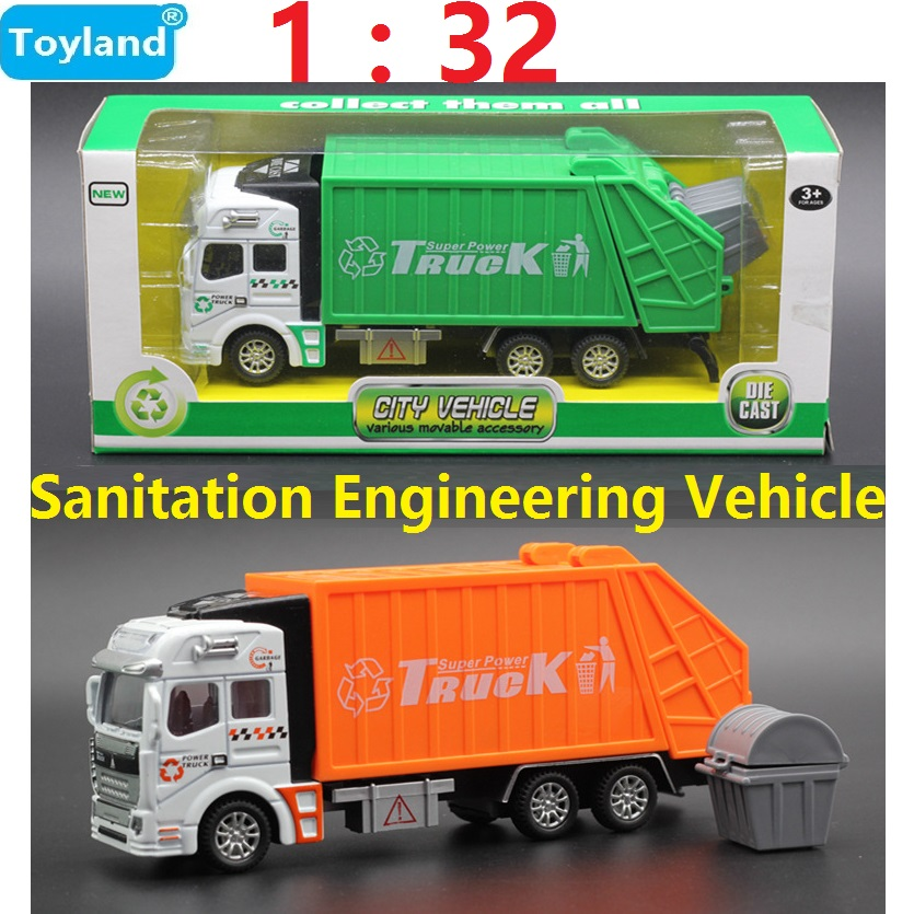 1:32 Alloy Sanitation Engineering Vehicle Simulation Garbage Truck Model Gift for Childr ...