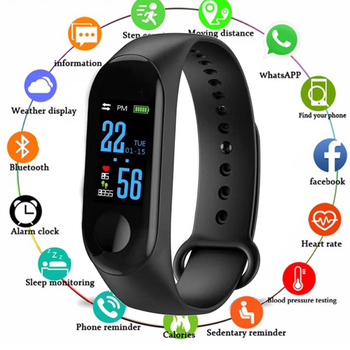 Smart Wristband Sports Smart Bracelet Blood Pressure Health Fitness Tracker Heart Rate Monitor Waterproof Watch for Android iOS