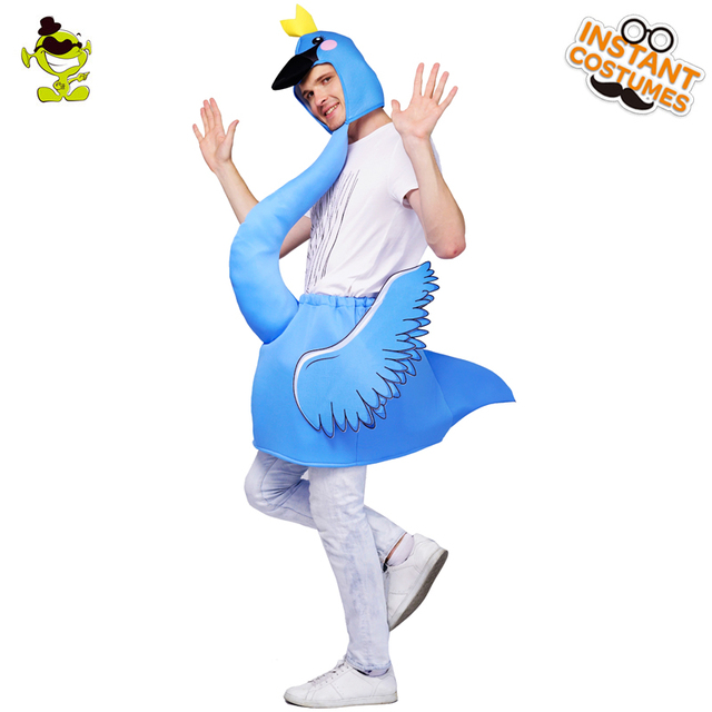 Olq Adulto Unisex Azul Flamingo Fiesta Traje Cosplay Fiesta De