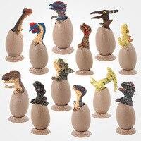 12pcs Mini Size Jurassic Wild Life Dinosaur Toy SetJurassic Dinosaurs Hatching Eggs Dinosaur Model Kids Boy Gift Home Decor