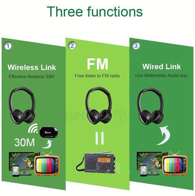 bingle B616 FM Radio Headphones TV Headset Multifunction Stereo Wireless with Microphone  FM Ratio for MP3 PC TV Phones