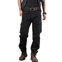 MORUANCLE Mens Casual Baggy Cargo Jeans Pants With Multi Big Pocket Loose Workwear Biker Tactical Denim Trousers Plus Size 30 40