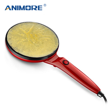 Animore 전기 크레페 제조기 피자 팬케이크 기계 비 스틱 철판 베이킹 팬 케이크 기계 주방 요리 도구 크레페