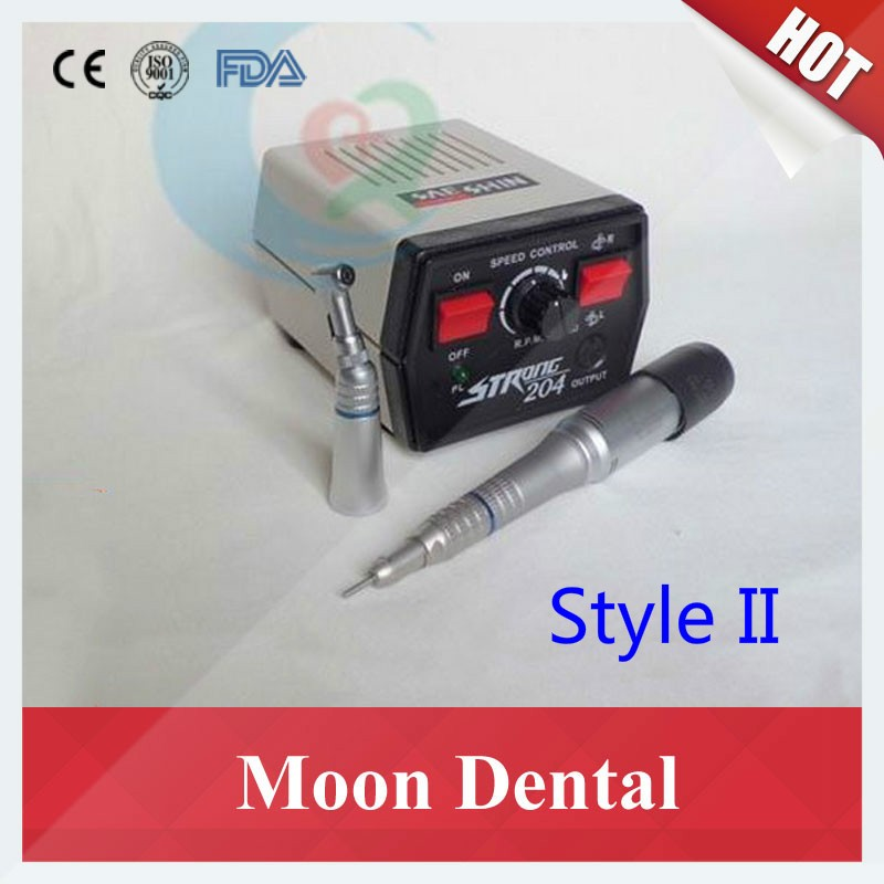 Strong 204 mocromotor+108E+straight contra angle handpiece 4