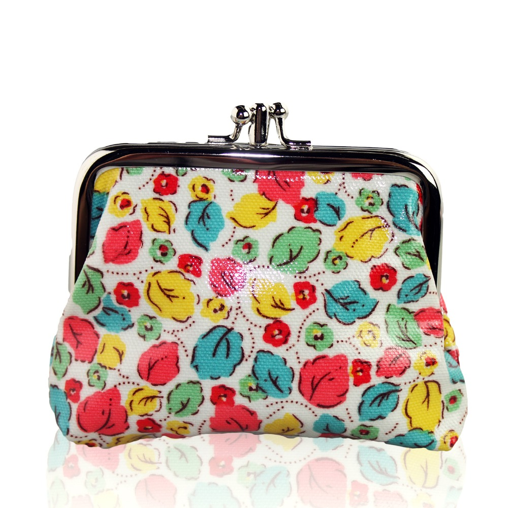 Fashion Women Coin Purse Lovely Flower Print Ladies Coin Bags girls Keys Coin Pouch Wallet and Purse for Women Random delivery