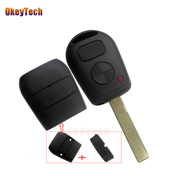 OkeyTech for Bmw 2 Button Blank Uncut HU92 Blade 2 Track Remote Car Key Shell Replacement Cover Case Fob For BMW E38 E39 E36 Z3 image