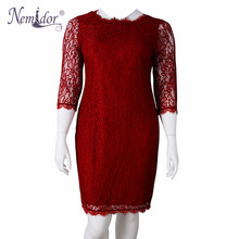 Nemidor Elegant 3/4 Sleeve Retro Bodycon Dress