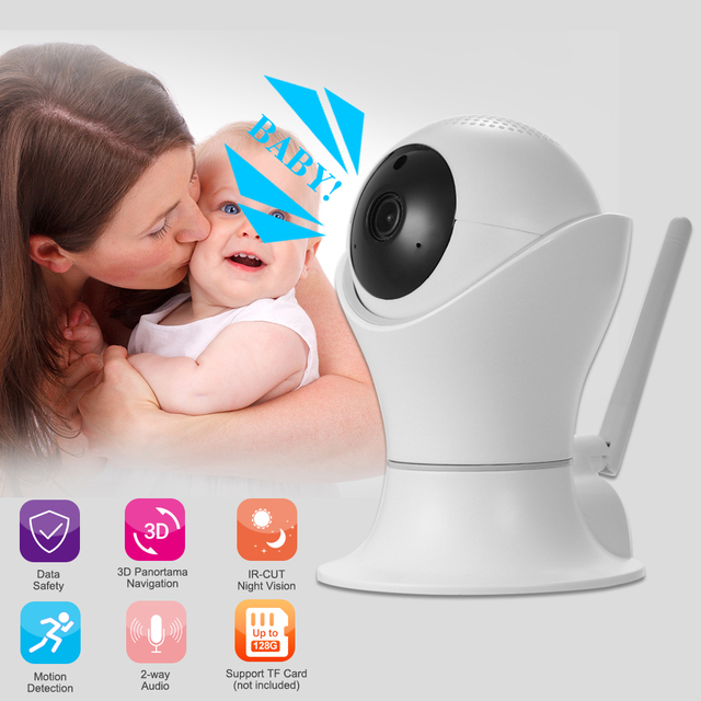 1080P WiFi IP camera 360 Degree Pan/Tilt Wireless Camera CCTV Baby Monitor  Motion Detection Home Security Surveillance-in Surveillance Cameras from