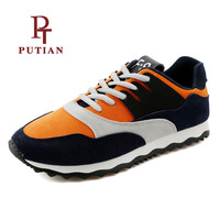 PU TIAN Respirant Mesh Hommes Chaussures de Course Confortable En Plein Air Athletic Homme Sport Sneakers de Haute Qualité Chaussures de Marche Pour Hommes