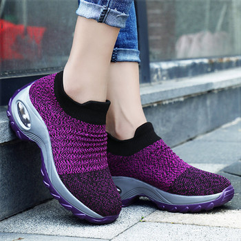 Women Shoes Chunky Sneakers Women White Shoes Breathable Casual Vulcanized Shoes Slip On Platform Sneakers Basket Femme Size 42